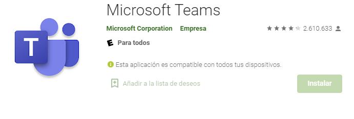App De Microsoft Teams Para Móvil Android