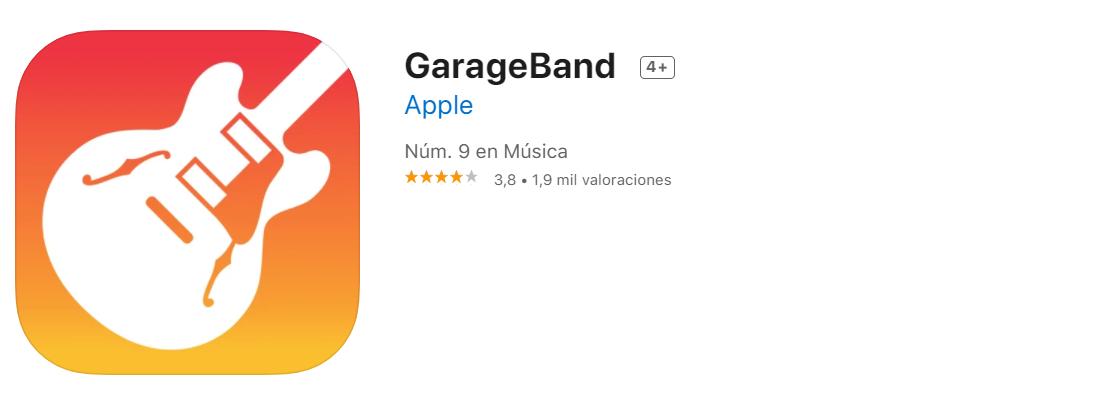 GarageBand Funte App Store