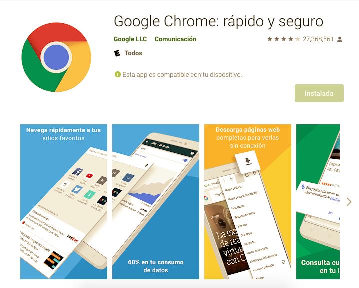 App Para Abrir Una URL En Móvil Android / Fuente: Google Play
