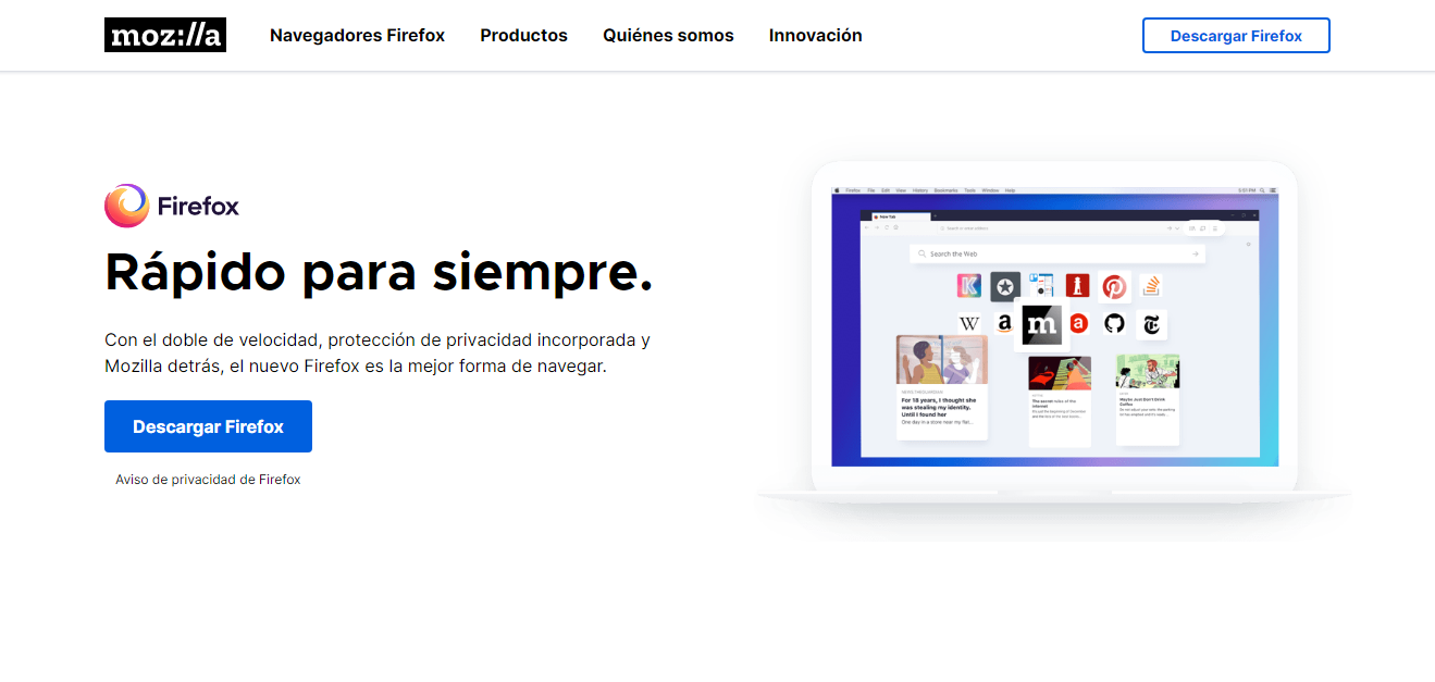 Programa Para Abrir URL En PC / Fuente: Captura de Pantalla del Sitio Web Oficial
