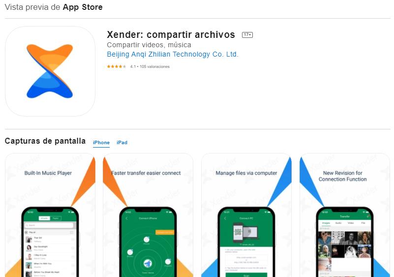 Aplicación De iPhone Para Compartir ArchivosFuente: App Store