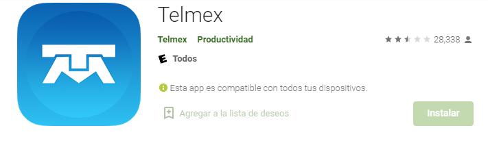 App Telmex Fuente Google Play Store