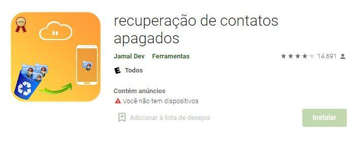 App Android Para Recuperar Mis Contactos Eliminados Del CelularFuente: Google Play